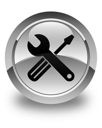 preference: Tools icon glossy white round button