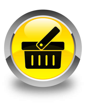 check out: Shopping cart icon glossy yellow round button Stock Photo
