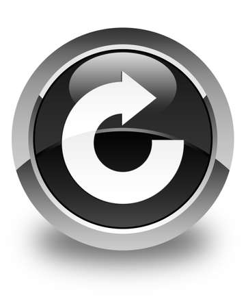 reply: Reply arrow icon glossy black round button