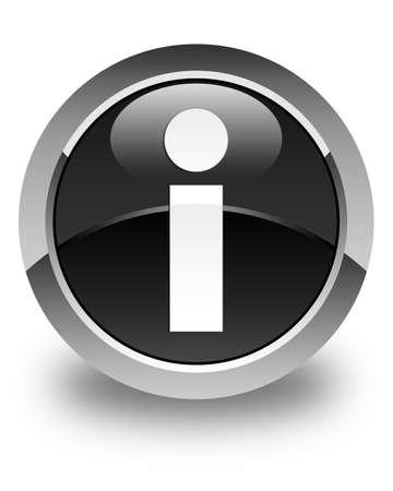 inform information: Info icon glossy black round button
