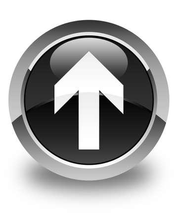 upload: Upload arrow icon glossy black round button
