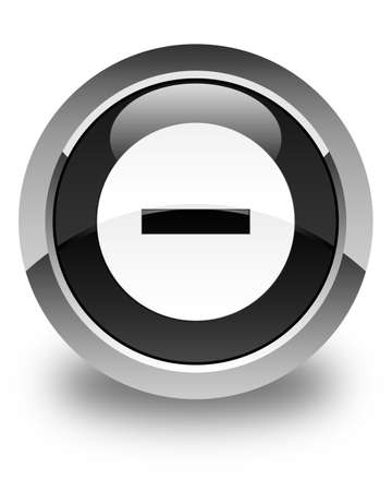 disagree: Cancel icon glossy black round button