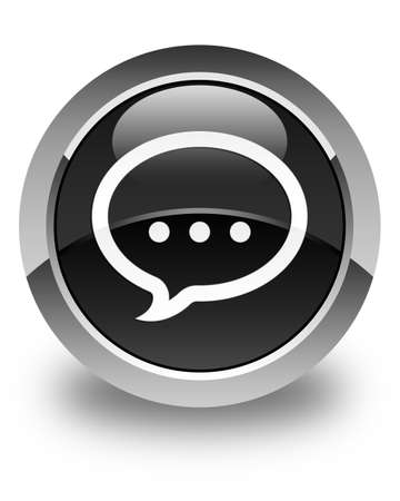 instant message: Talk icon glossy black round button