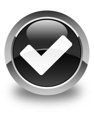 validate: Validate icon glossy black round button