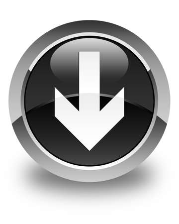 down load: Download arrow icon glossy black round button
