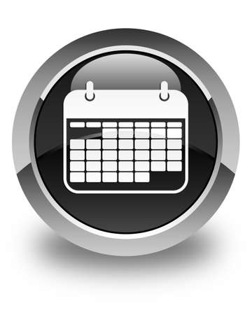 appointments: Calendar icon glossy black round button