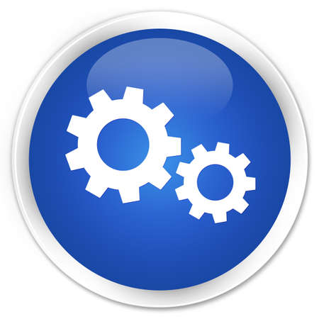 control tools: Process icon blue glossy round button Stock Photo