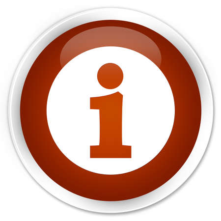 quest: Info icon brown glossy round button