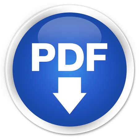 pdf: PDF download icon blue glossy round button