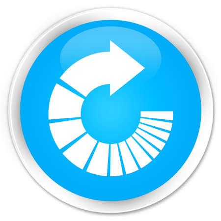 rotate: Rotate arrow icon cyan blue glossy round button Stock Photo