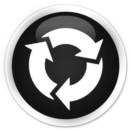 refresh icon: Refresh icon black glossy round button Stock Photo