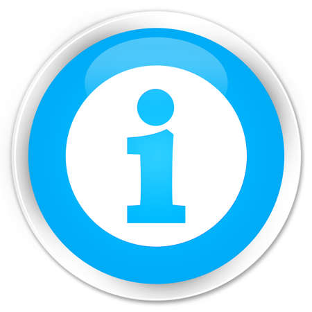 informing: Info icon cyan blue glossy round button Stock Photo