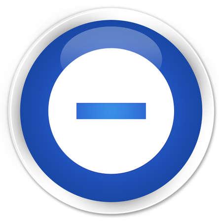 refuse: Cancel icon blue glossy round button