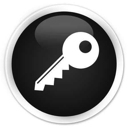 permission: Key icon black glossy round button