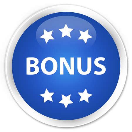 bonus: Bonus (stars) icon blue glossy round button Stock Photo