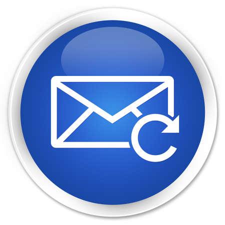 refresh button: Refresh email icon blue glossy round button