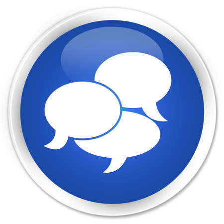instant message: Comments icon blue glossy round button