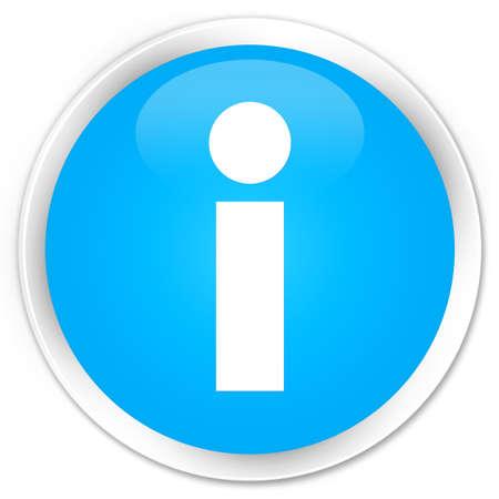 inform information: Info icon cyan blue glossy round button Stock Photo
