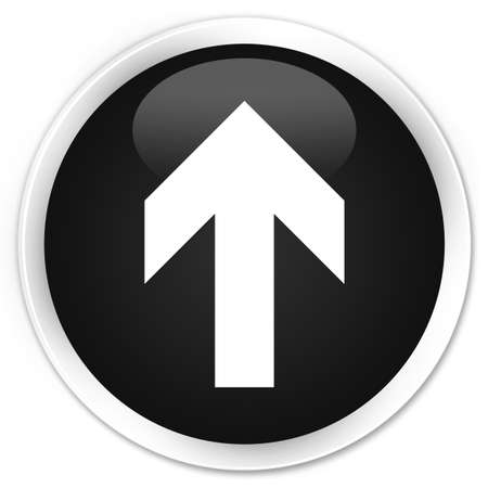 upload: Upload arrow icon black glossy round button