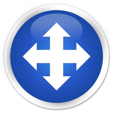 go forward: Move icon blue glossy round button
