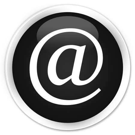 email address: Email address icon black glossy round button