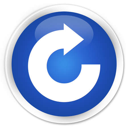 reply: Reply arrow icon blue glossy round button