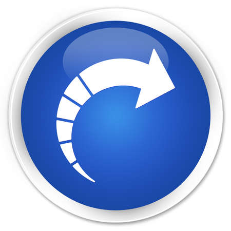 move ahead: Next arrow icon blue glossy round button Stock Photo
