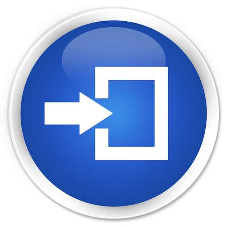 login icon: Login icon blue glossy round button