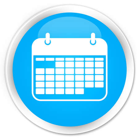 appointments: Calendar icon cyan blue glossy round button Stock Photo