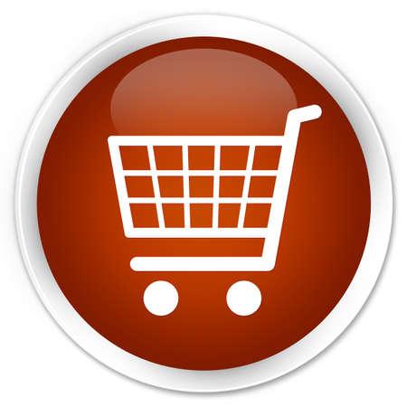 e commerce icon: Ecommerce icon brown glossy round button