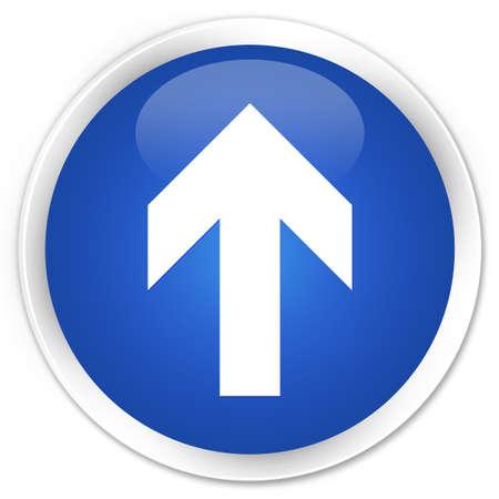 upload: Upload arrow icon blue glossy round button