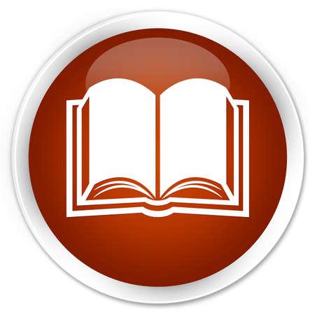 e magazine: Book icon brown glossy round button