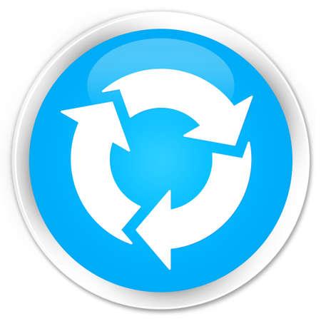 refresh button: Refresh icon cyan blue glossy round button