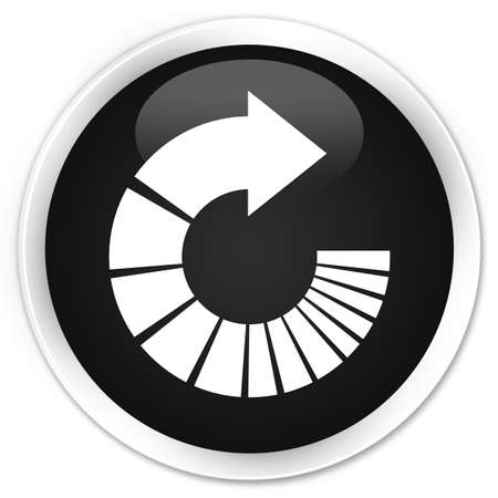 rotate: Rotate arrow icon black glossy round button