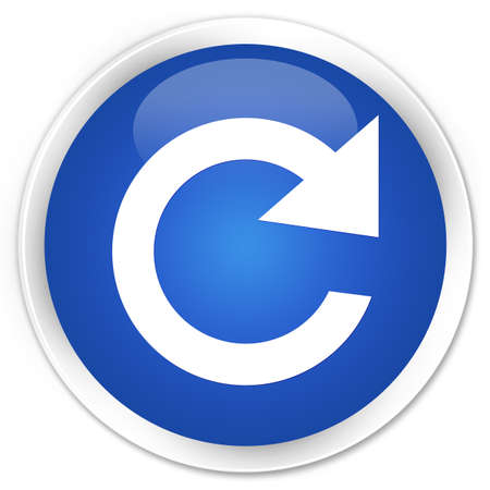reply: Reply rotate icon blue glossy round button