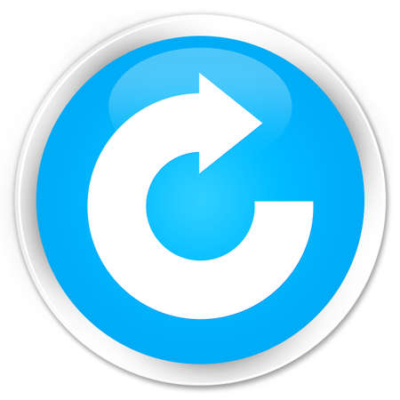 reply: Reply arrow icon cyan blue glossy round button Stock Photo