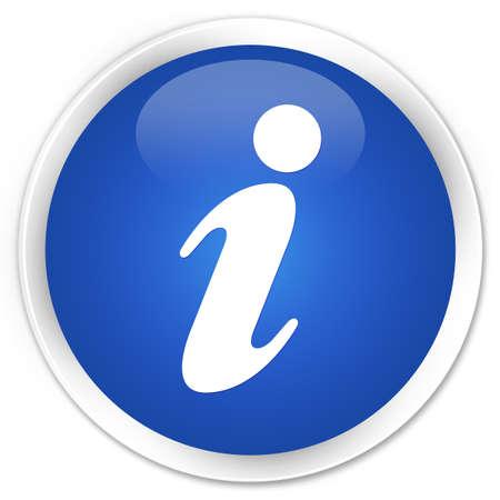 inform information: Info icon blue glossy round button