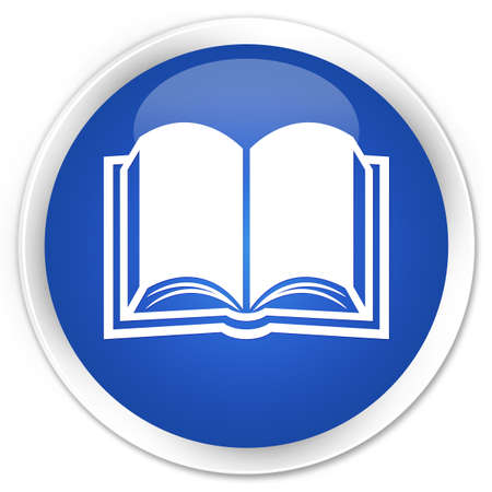 e magazine: Book icon blue glossy round button