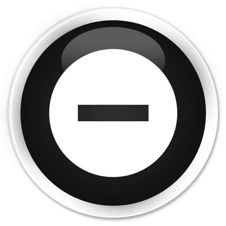 abort: Cancel icon black glossy round button