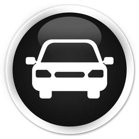 fare: Car icon black glossy round button Stock Photo