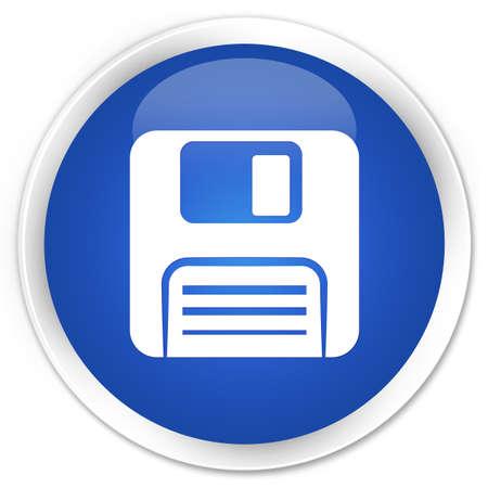 floppy disk: Floppy disk icon blue glossy round button Stock Photo