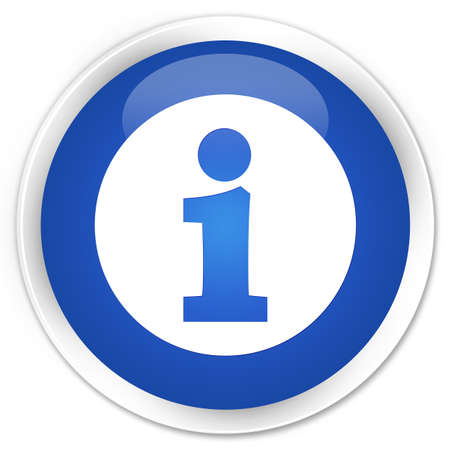 informing: Info icon blue glossy round button