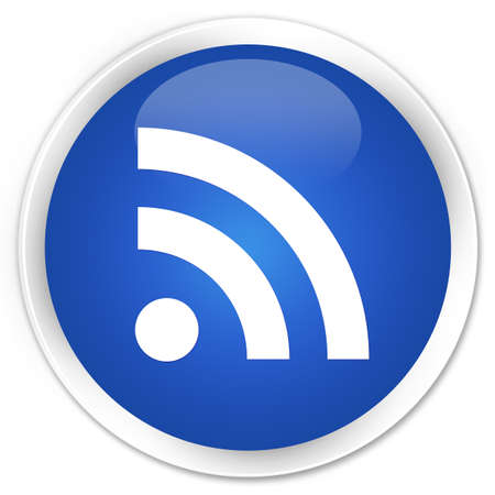 rss icon: RSS icon blue glossy round button
