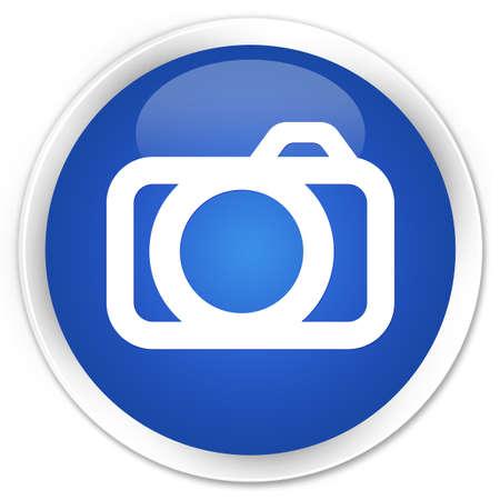 photo slide: Camera icon blue glossy round button