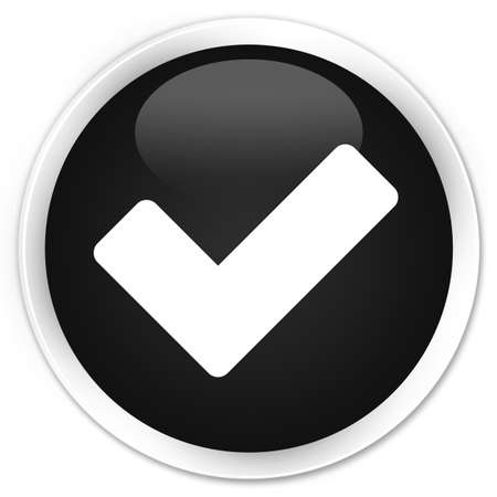 validate: Validate icon black glossy round button
