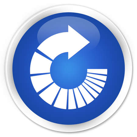 rotate: Rotate arrow icon blue glossy round button Stock Photo