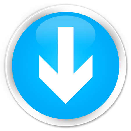 down load: Download arrow icon cyan blue glossy round button