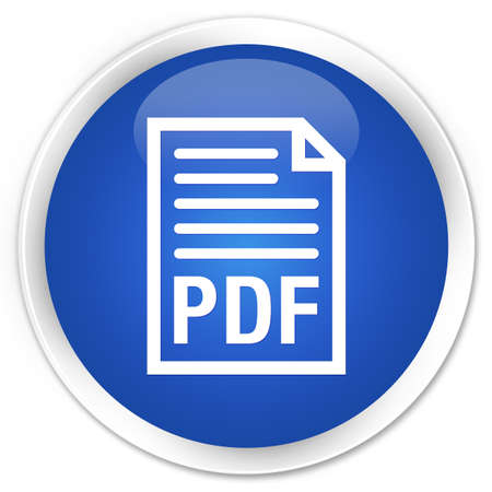 pdf: PDF document icon blue glossy round button