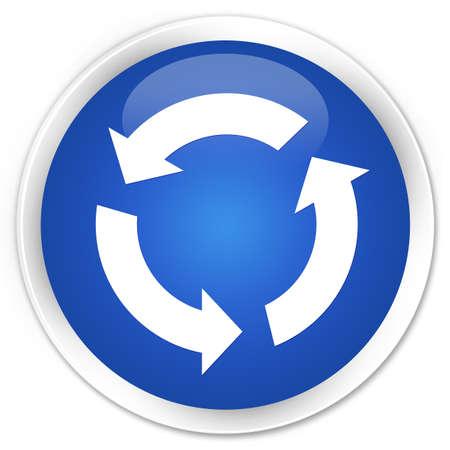 refresh icon: Refresh icon blue glossy round button