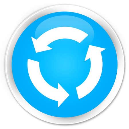 refresh icon: Refresh icon cyan blue glossy round button